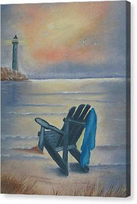 One Is A Lonely Number Canvas Print by Kay Novy