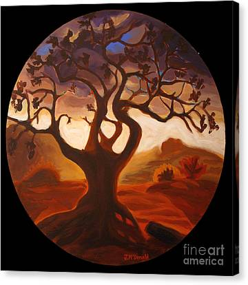 Canvas Print featuring the painting One by Janet McDonald
