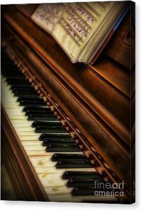 Lee Peterson Canvas Print - One Last Song  -  Piano Player - Pianist by Lee Dos Santos