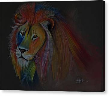 One Lion Canvas Print by Isabel Salvador