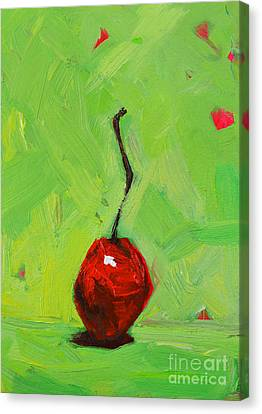 One Little Cherry - Modern Art Canvas Print by Patricia Awapara