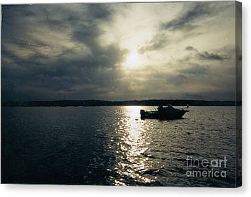 One Lonely Fisherman Canvas Print by John Telfer