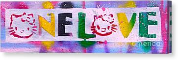 One Love Kitty 1 Canvas Print by Tony B Conscious