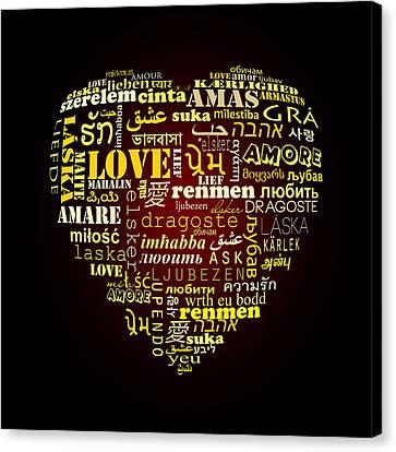 One Love  Canvas Print