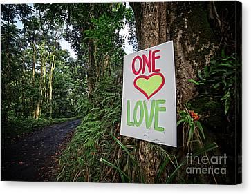 One Love Maui Hawaii Canvas Print by Edward Fielding