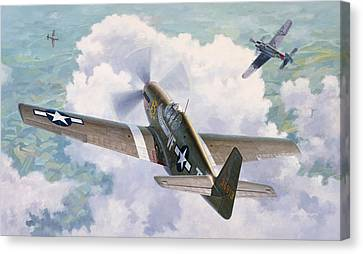 One Man Air Force Canvas Print by Wade Meyers
