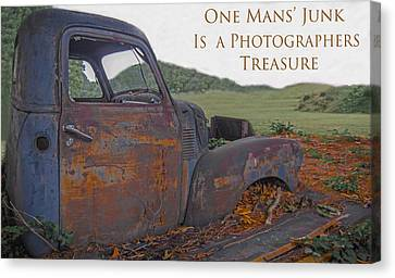 One Mans' Junk Canvas Print by Marion Johnson