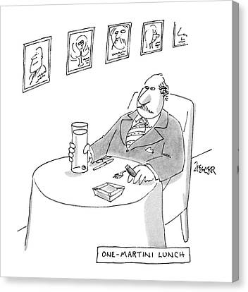One-martini Lunch Canvas Print by Jack Ziegler