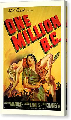 One Million Bc 1940 Canvas Print by Presented By American Classic Art