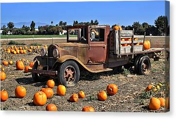 Canvas Print featuring the photograph One More Pumpkin by Michael Gordon
