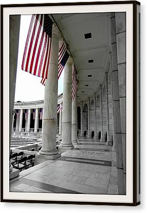 4th July Canvas Print - One Nation Under God -bdr by Angelia Hodges Clay