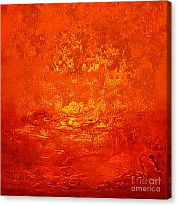 One Night In Old Shanghai By Rjfxx.-original Minimalist Abstract Art Painting Canvas Print