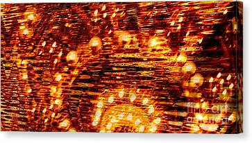 One Night In Paris - Abstract Art Canvas Print by Carol Groenen