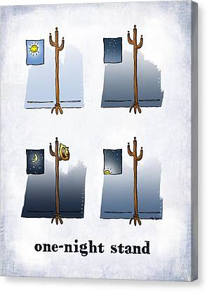 One Night Stand Canvas Print by Mark Armstrong