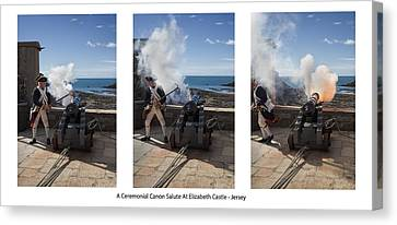 One O'clock Cannon Canvas Print