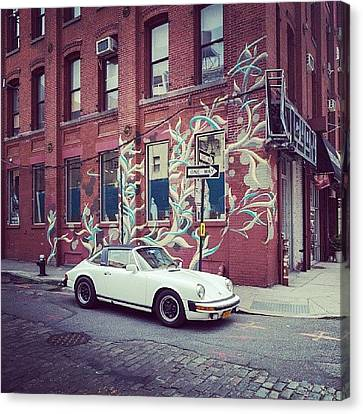 One Of My Favorite Wall With Graffiti Canvas Print by Pavel Bendov