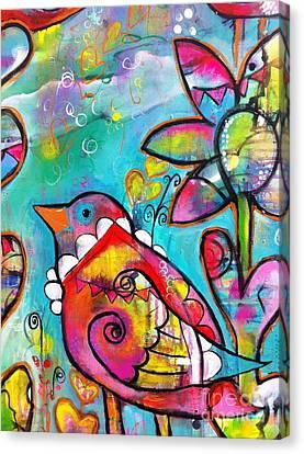 One Of My Friends Canvas Print by Kim Heil