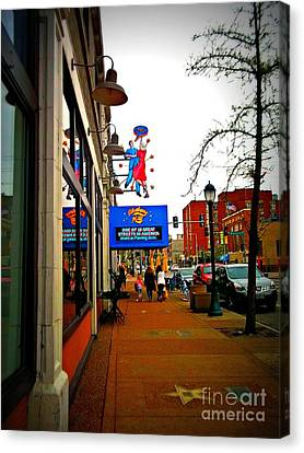 One Of Ten Great Streets Canvas Print by Kelly Awad