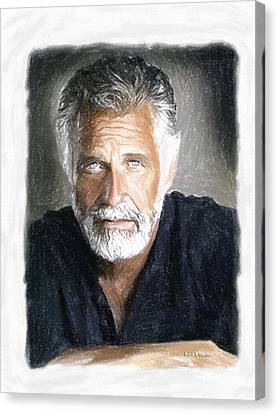 One Of The Most Interesting Man In The World Canvas Print by Angela A Stanton