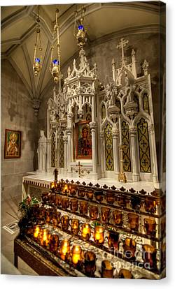 One Of The Twelve Stations Of The Cross In St Patricks Cathedr Canvas Print by Amy Cicconi