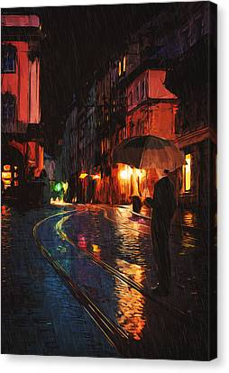 One Of These Nights Canvas Print by Taylan Apukovska