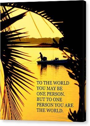 One Person Canvas Print by Karen Wiles