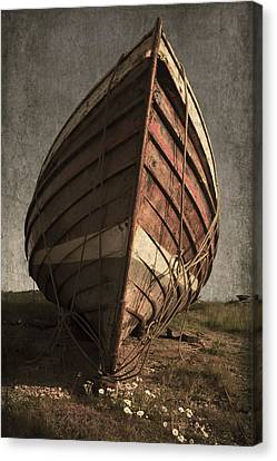 One Proud Boat Canvas Print by Svetlana Sewell
