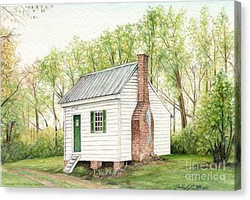 One Room House Canvas Print by Michael  Martin