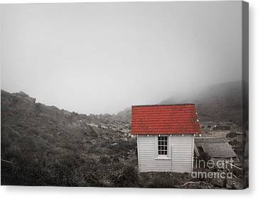 Canvas Print featuring the photograph One Room In A Fog by Ellen Cotton