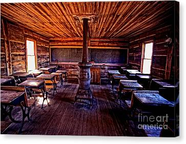 One-room School House Canvas Print by Paul W Faust -  Impressions of Light