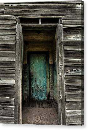 One Room Schoolhouse Door - Damascus - Pennsylvania Canvas Print