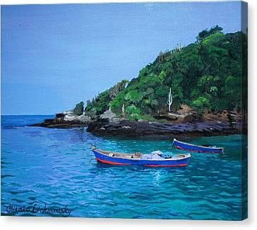 One Scenery Of Praia De Joao Fernandinho Canvas Print by Chikako Hashimoto Lichnowsky