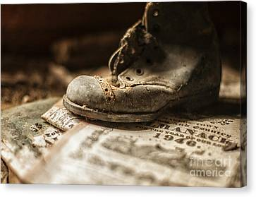 One Single Shoe Canvas Print by Terry Rowe