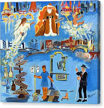 One Step Ahead Of The Undertaker In A Johnny Coat  Canvas Print by Betty Pieper