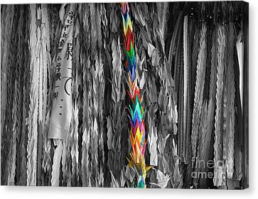 Canvas Print featuring the photograph One Thousand Paper Cranes by Cassandra Buckley