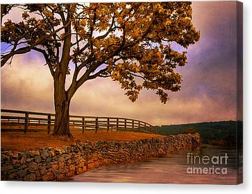 Autumn Landscape Canvas Print - One Tree Hill by Lois Bryan
