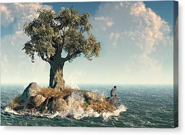 One Tree Island Canvas Print by Daniel Eskridge