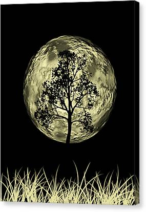 Graphic Digital Art Canvas Print - One Tree  by Mark Ashkenazi