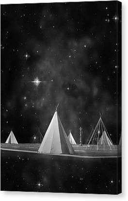 One Tribe Bw Canvas Print by Laura Fasulo
