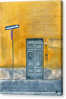 One Way Canvas Print by Dana Alfonso