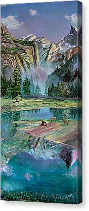 One With Nature Canvas Print by Sarabjit Singh
