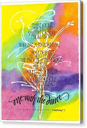 One With The Dance Canvas Print by Sally Penley