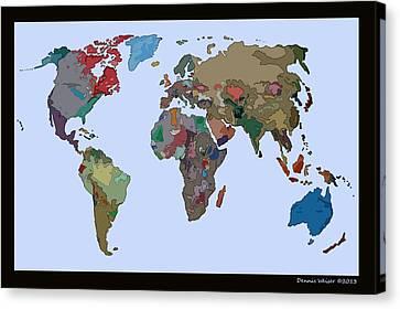 One World Canvas Print by Dennis Weiser