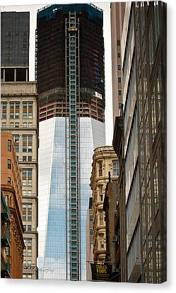 Canvas Print featuring the photograph One World Trade Center #2 by Ann Murphy