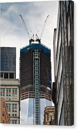 Canvas Print featuring the photograph One World Trade Center by Ann Murphy