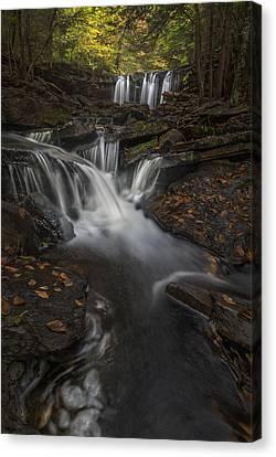 Canvas Print featuring the photograph Oneida Falls by Roman Kurywczak