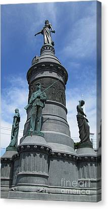 Oneida Square Civil War Monument Canvas Print by Peter Gumaer Ogden