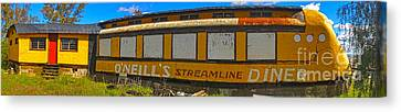Oneills Streamline Diner - 04 Canvas Print by Gregory Dyer