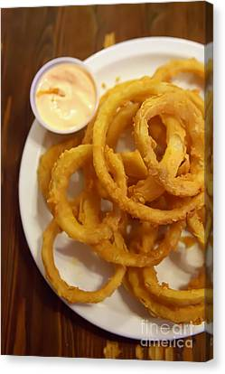 Onion Rings Canvas Print by Kay Pickens