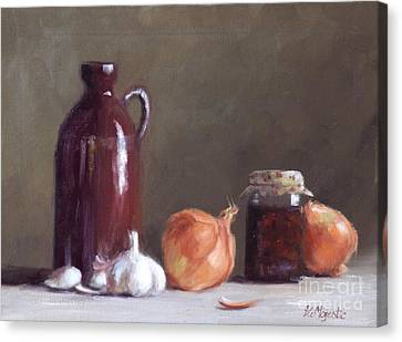 Onions And Sundried Tomatoes Canvas Print